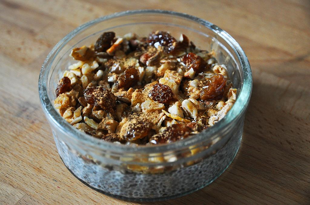 Pudding chia croustillant pour l'automne
