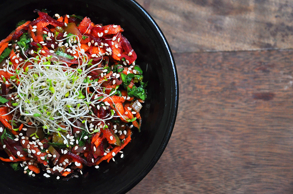 La salade de crudité qui fait bien mastiquer