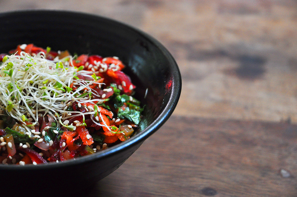 La salade de crudité qui fait bien saliver !