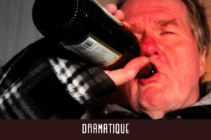 Quand on en arrive à boire son vin à la bouteille et ne faire qu'un avec ses rougeurs alcooliques, ça devient dramatique.