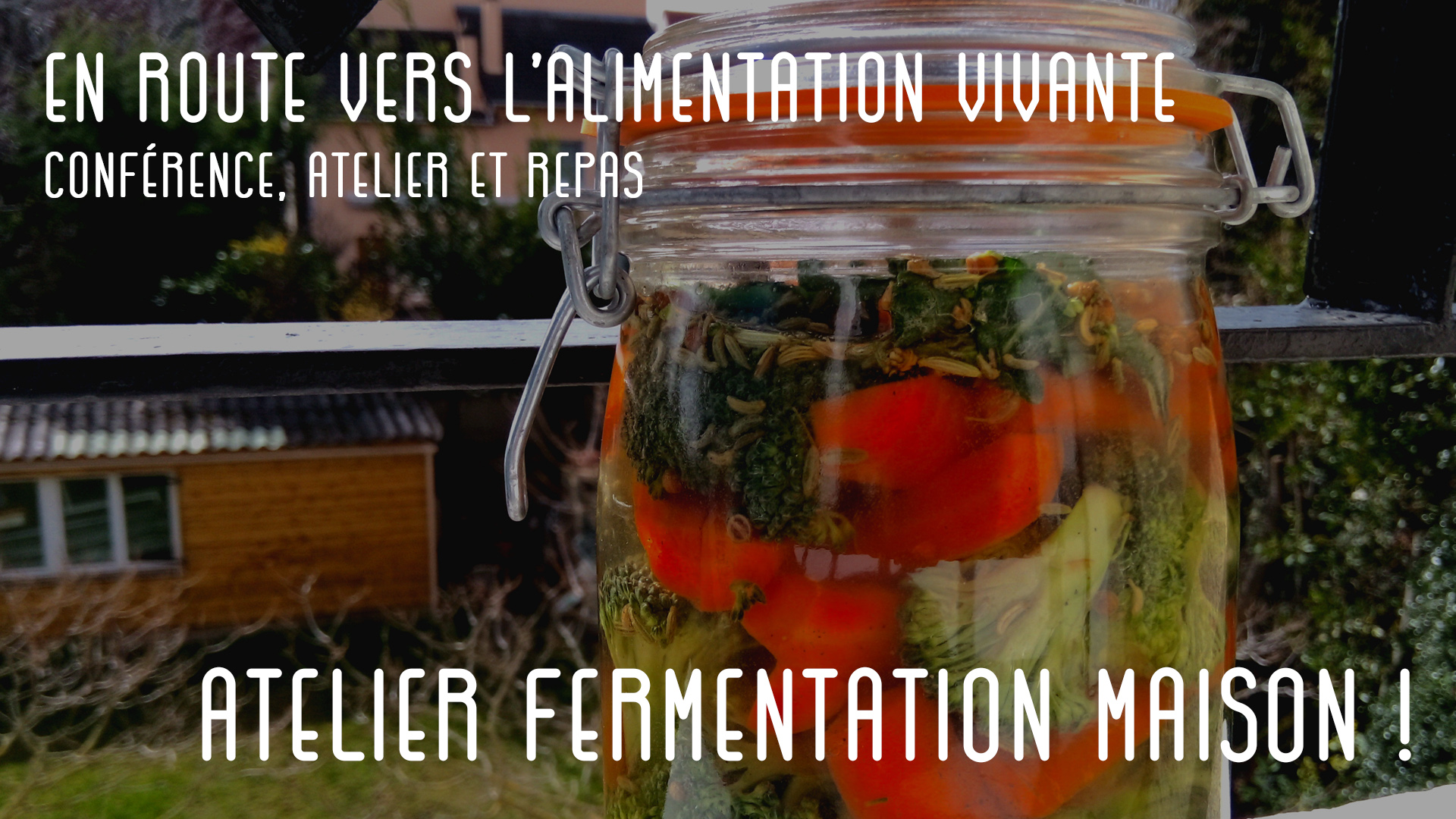 Workshop alimentation vivante : conférence, atelier lacto-fermentation, et bien sûr dégustation !